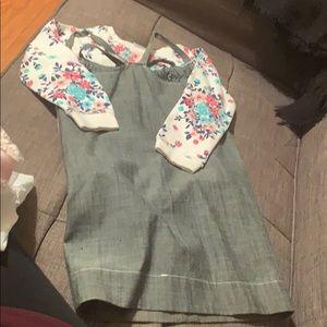 Dress and sweat shirt